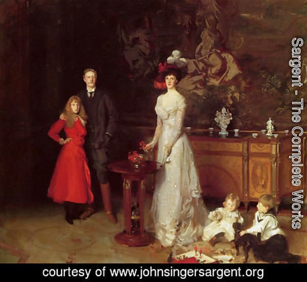 Sargent - Sir George Sitwell, Lady Ida Sitwell and Family