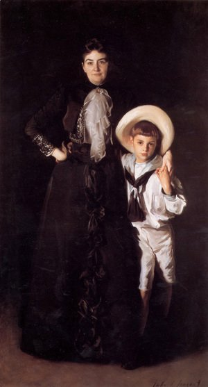Sargent - Mrs. Edward L. Davis and Her Son Livingston