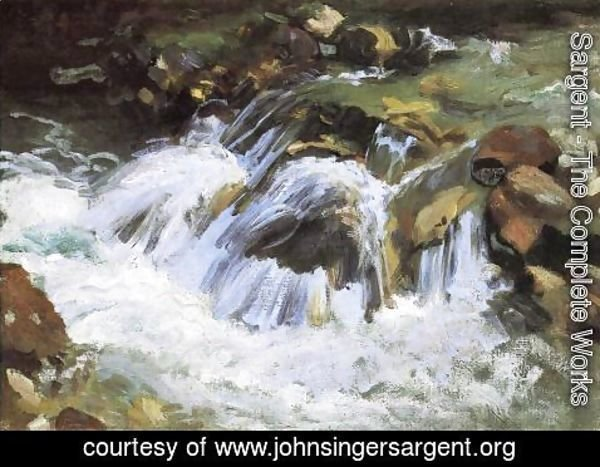 Sargent - A Mountain Stream, Tyrol