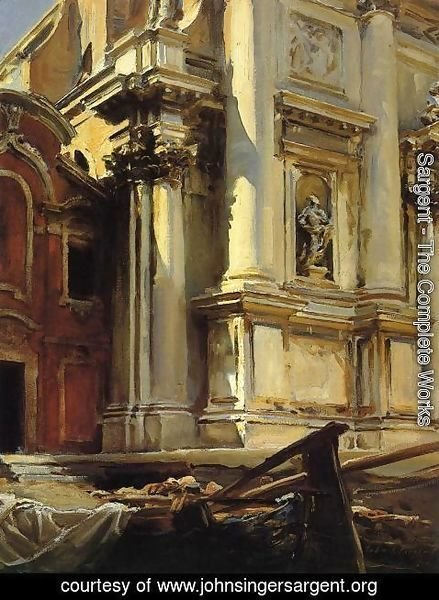 Sargent - Corner of the Church of St. Stae, Venice