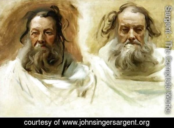 Sargent - Study for Two Heads for Boston Mural 'The Prophets'
