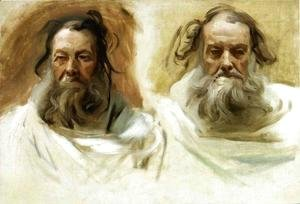 Study for Two Heads for Boston Mural 'The Prophets'