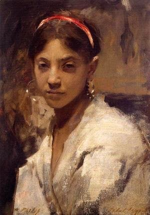 Sargent - Head of a Capri Girl