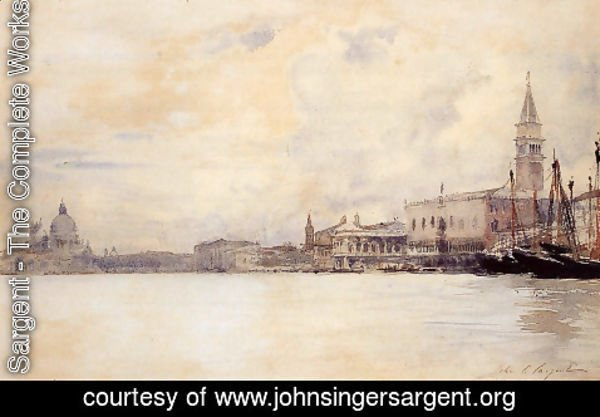 Sargent - The Entrance to the Grand Canal, Venice