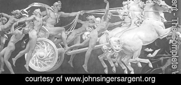 Sargent - Apollo in His Chariot with the Hours
