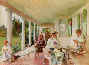Sargent - On the Verandah (Ironbound Island, Maine)