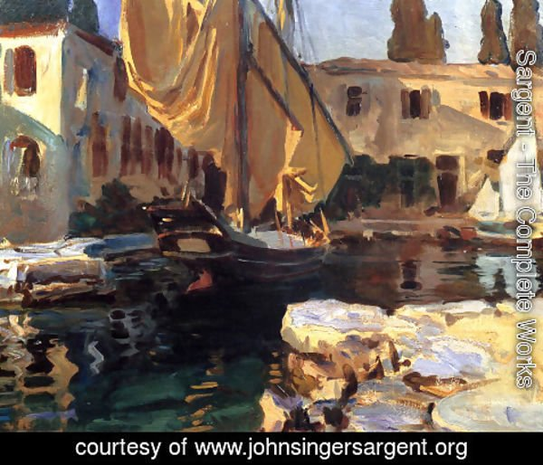 Sargent - San Vigilio: A Boat with Golden Sail