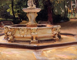 Sargent - A Marble fountain at Aranjuez, Spain