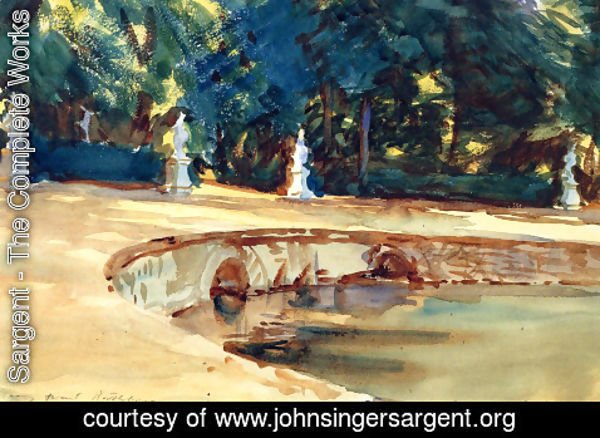 Sargent - Pool in the Garden of La Granja