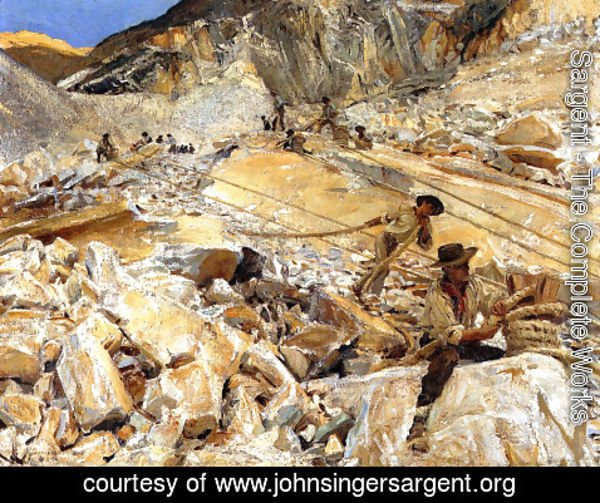 Sargent - Bringing Down Marble from the Quarries in Carrara