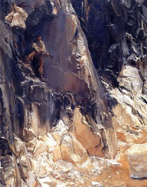 Sargent - Marble Quarries at Carrara