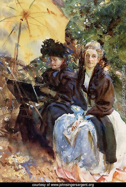 Miss Wedewood and Miss Sargent Sketching