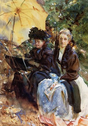 Sargent - Miss Wedewood and Miss Sargent Sketching