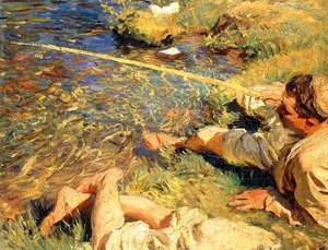 Sargent - Val d'Aosta: Man Fishing
