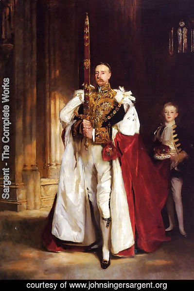 Sargent - Charles Stewart, Sixth Marquess of Londonderry, Carrying the Great Sword of State at the Coronat