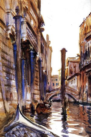 Sargent - Side Canal in Venice