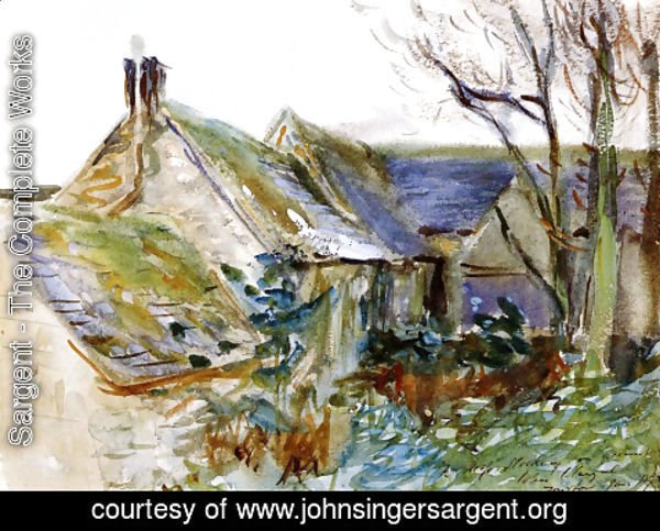 Sargent - Cottage at Fairford, Gloucestershire