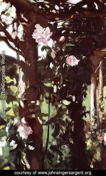 Sargent - A Rose Trellis (Roses at Oxfordshire)