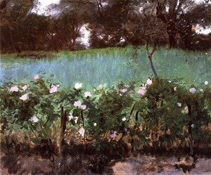 Sargent - Landscape with Rose Trellis