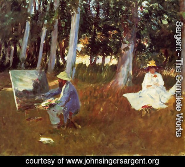 Sargent - Claude Monet Painting by the Edge of a Wood