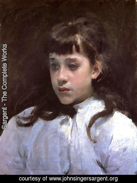 Sargent - Young Girl Wearing a White Muslin Blouse