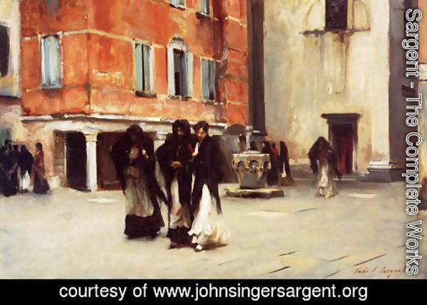 Sargent - Leaving Church, Campo San Canciano, Venice