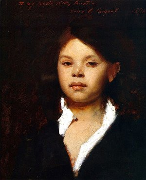 Sargent - Head of an Italian Girl