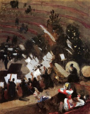 Sargent - Rehearsal of the Pas de Loup Orchestra at the Cirque d'Hiver