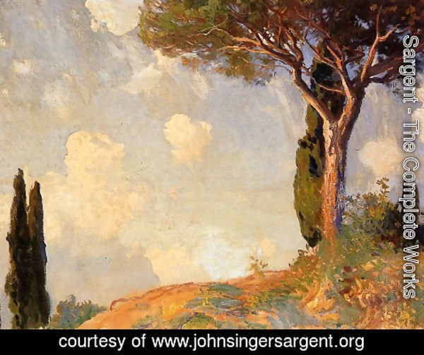 Sargent - A Landscape Study at San Vigilio, Lake of Garda