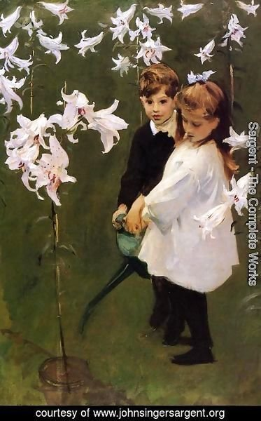 Sargent - Garden Study of the Vickers Children