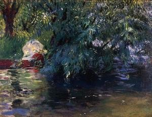 Sargent - A Backwater, Calcot Mill near Reading