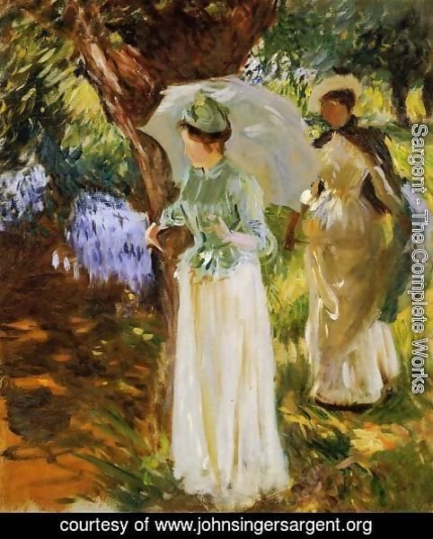 Sargent - Two Girls with Parasols at Fladbury