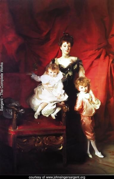 Mrs. Cazalet and Children, Edward and Victor