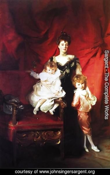 Sargent - Mrs. Cazalet and Children, Edward and Victor