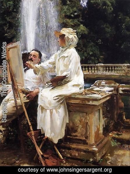 Sargent - The Fountain, Villa Torlonia, Frascati, Italy
