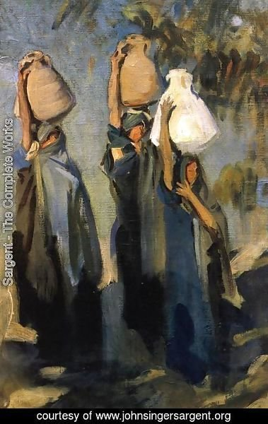 Sargent - Bedouin Women Carrying Water Jars
