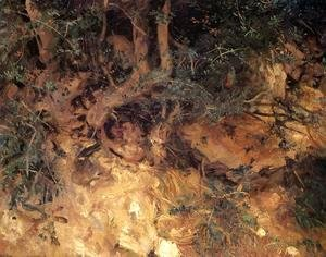 Sargent - Valdemosa, Majorca: Thistles and Herbage on a Hillside