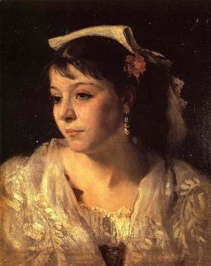 Sargent - Head of an Italian Woman