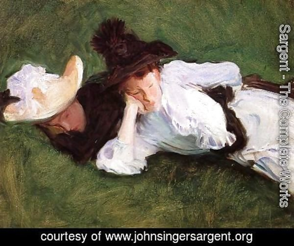 Sargent - Two Girls Lying on the Grass