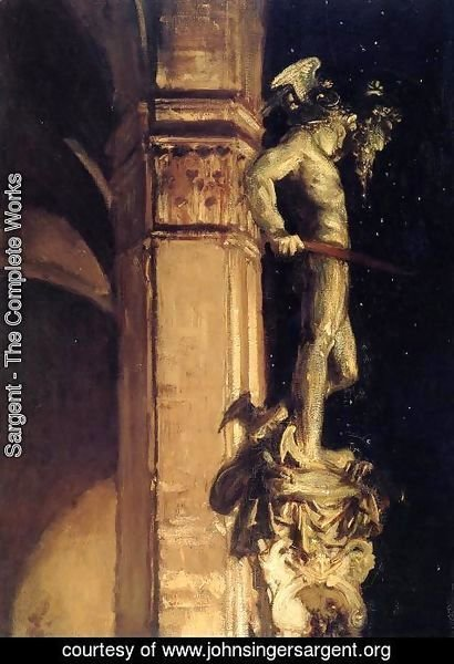 Sargent - Statue of Perseus by Night
