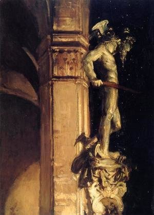 Statue of Perseus by Night