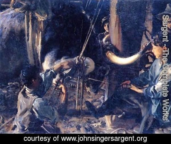 Sargent - Shoeing the Ox
