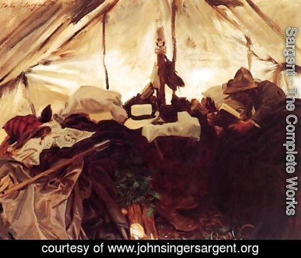 Sargent - Inside a Tent in the Canadian Rockies