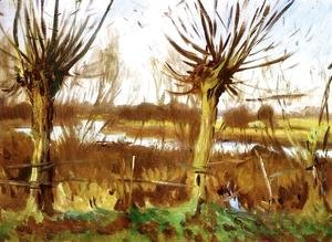 Sargent - Landscape with Trees, Calcot