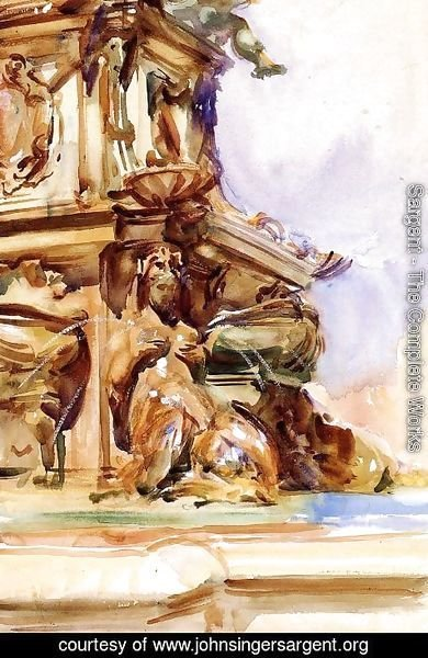 Sargent - The Great Fountain of Bologna