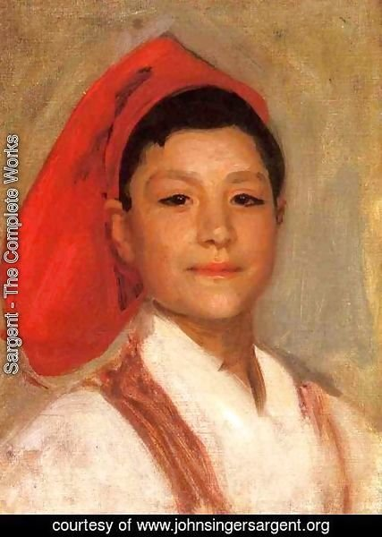 Sargent - Head of a Neapolitan Boy