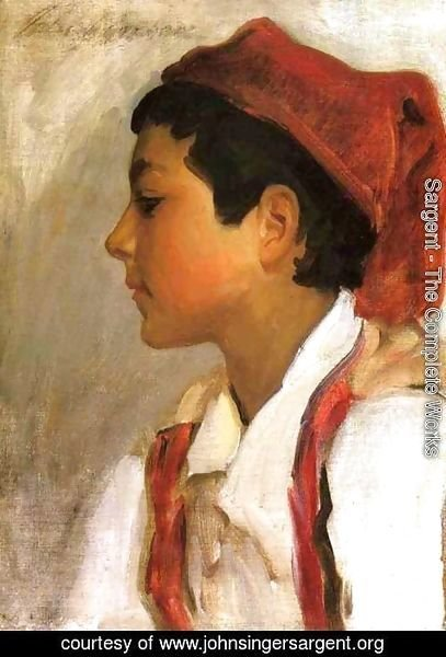 Sargent - Head of a Neapolitan Boy in Profile