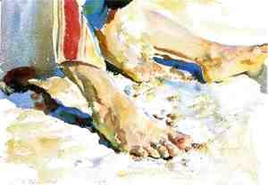 Sargent - Feet of an Arab, Tiberias