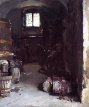 Sargent - Pressing the Grapes: Florentine Wine Cellar