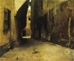 Sargent - A Street in Venice I